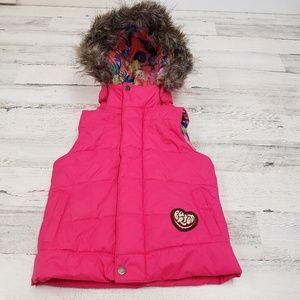 Burton Hooded Ski Snowboard Vest Girls Size Small